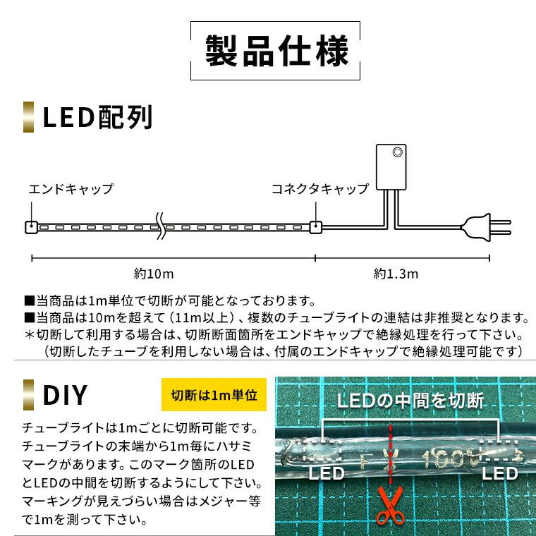 製品仕様 マルチカラー LEDチューブライト