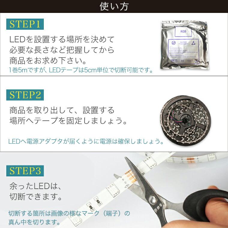 LEDテープの使い方。