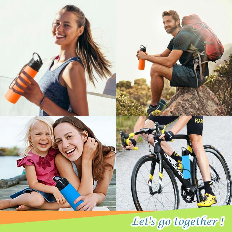 シリコンボトル、シリコン、スポーツ、アクティブ、ランニング、スクイズ、サイクル、ソフト、トラベル、ボトル、ドリンクホルダー、ボトルホルダー