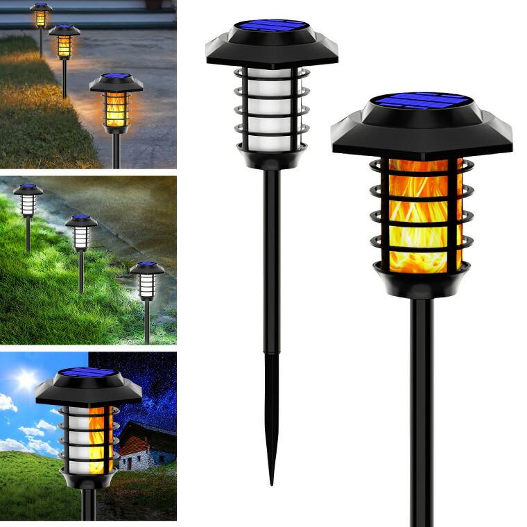 ガーデンライト、LED、白、ホワイト、炎、アンティーク、ソーラー、ランタン、ライト、ランプ、屋外、インテリア、照明、イルミネーション、明るい、おしゃれ