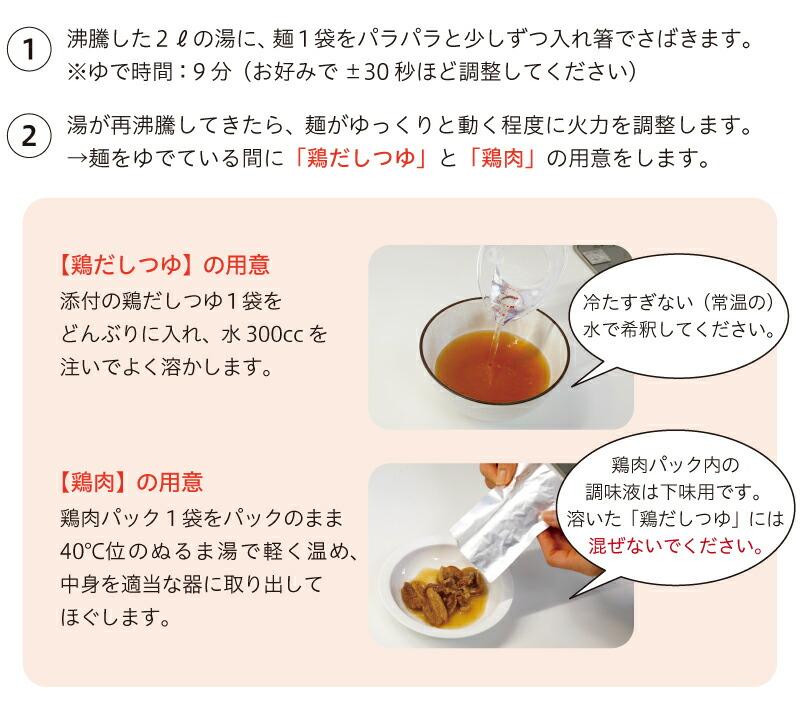 冷たい肉そばのつくり方(1人前)