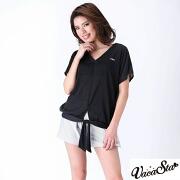 【FILA (フィラ)】カバーアップTシャツ・ショートパンツ付きノンワイヤーセパレート水着4点セット