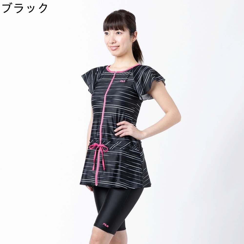 【SALE】【FILA (フィラ)】 FILA 2点タンキニ  3色展開:ブラック/ネイビー/ピンク  サイズ:7号/9号/11号/13号