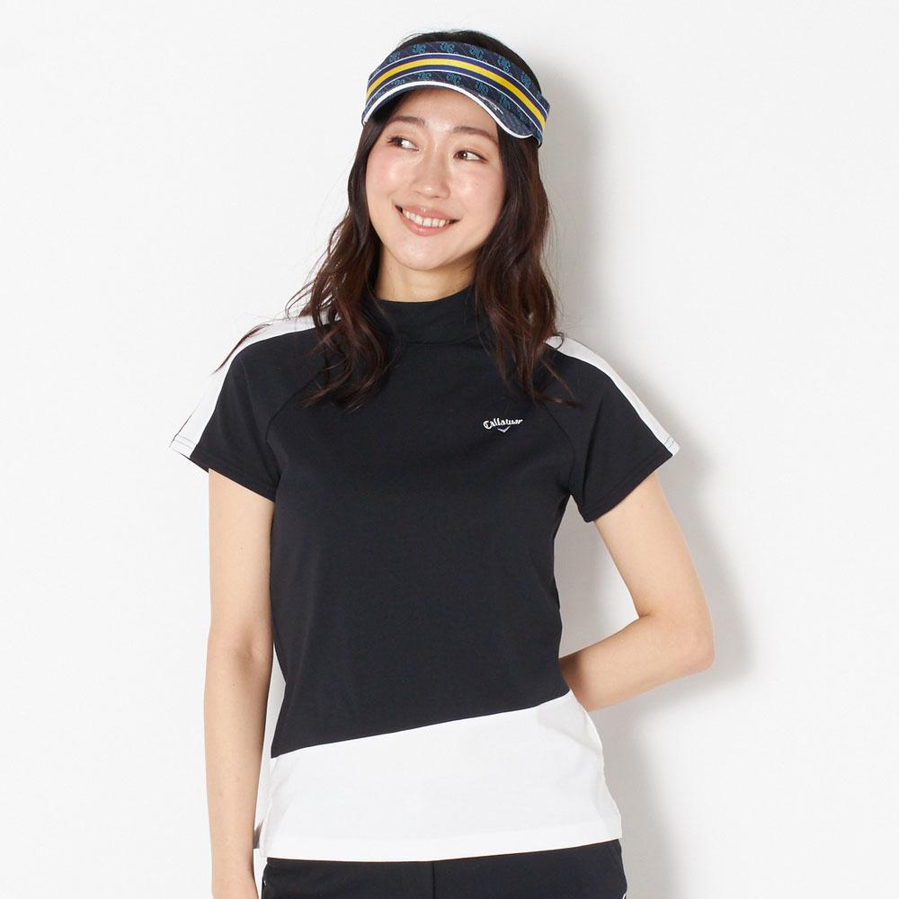 キャロウェイ 半袖シャツ レディース 全2色 M/L Callaway 女性 ストレッチ ゴルフウェア かわいい オシャレ 大きいサイズ レジャー コース 春 夏