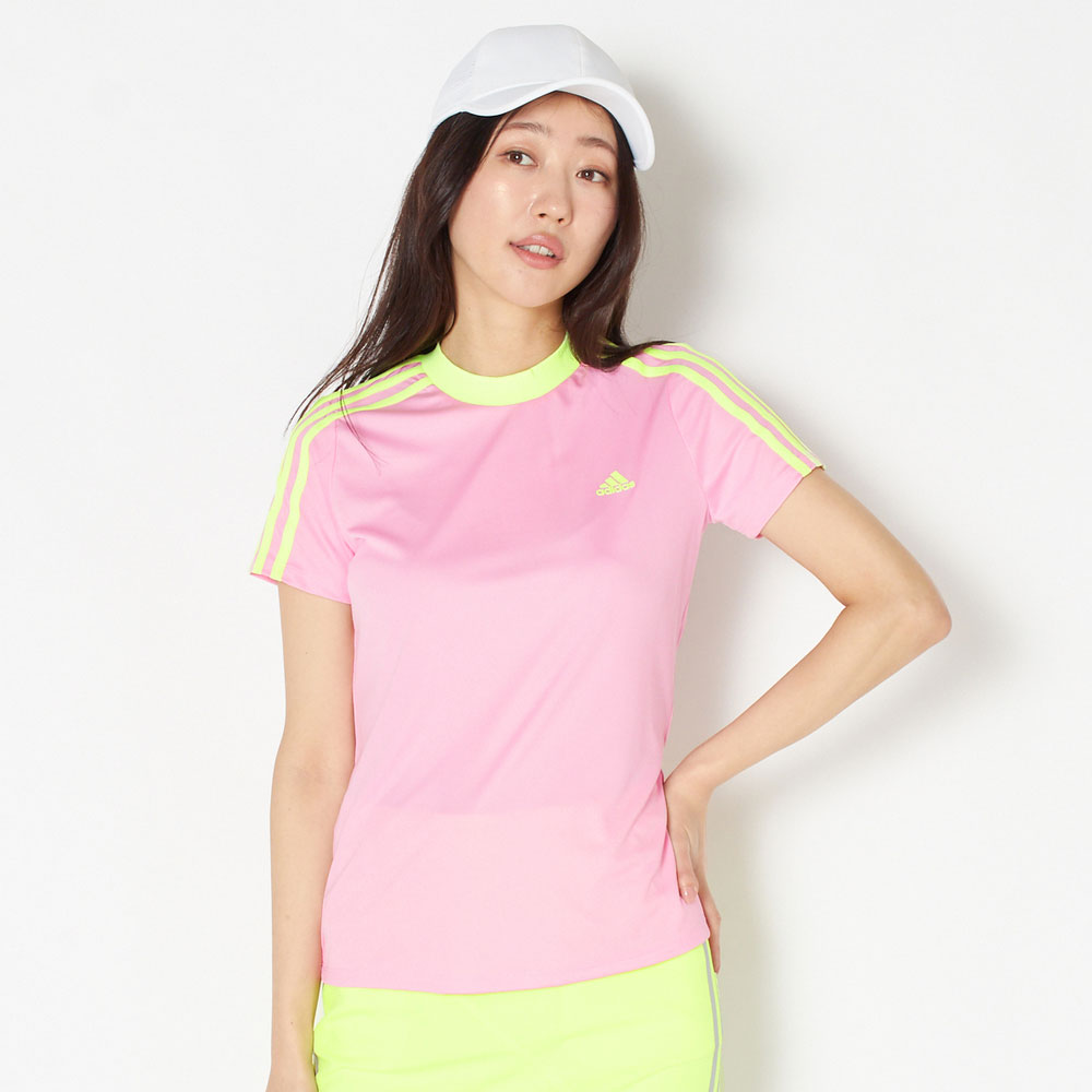 【SALE】【送料無料】 アディダスゴルフ モックネックシャツ レディース 全3色 M/L adidas Golf 女性 UPF50 吸水 速乾 ゴルフウェア かわいい オシャレ 大きいサイズ レジャー コース 春 夏