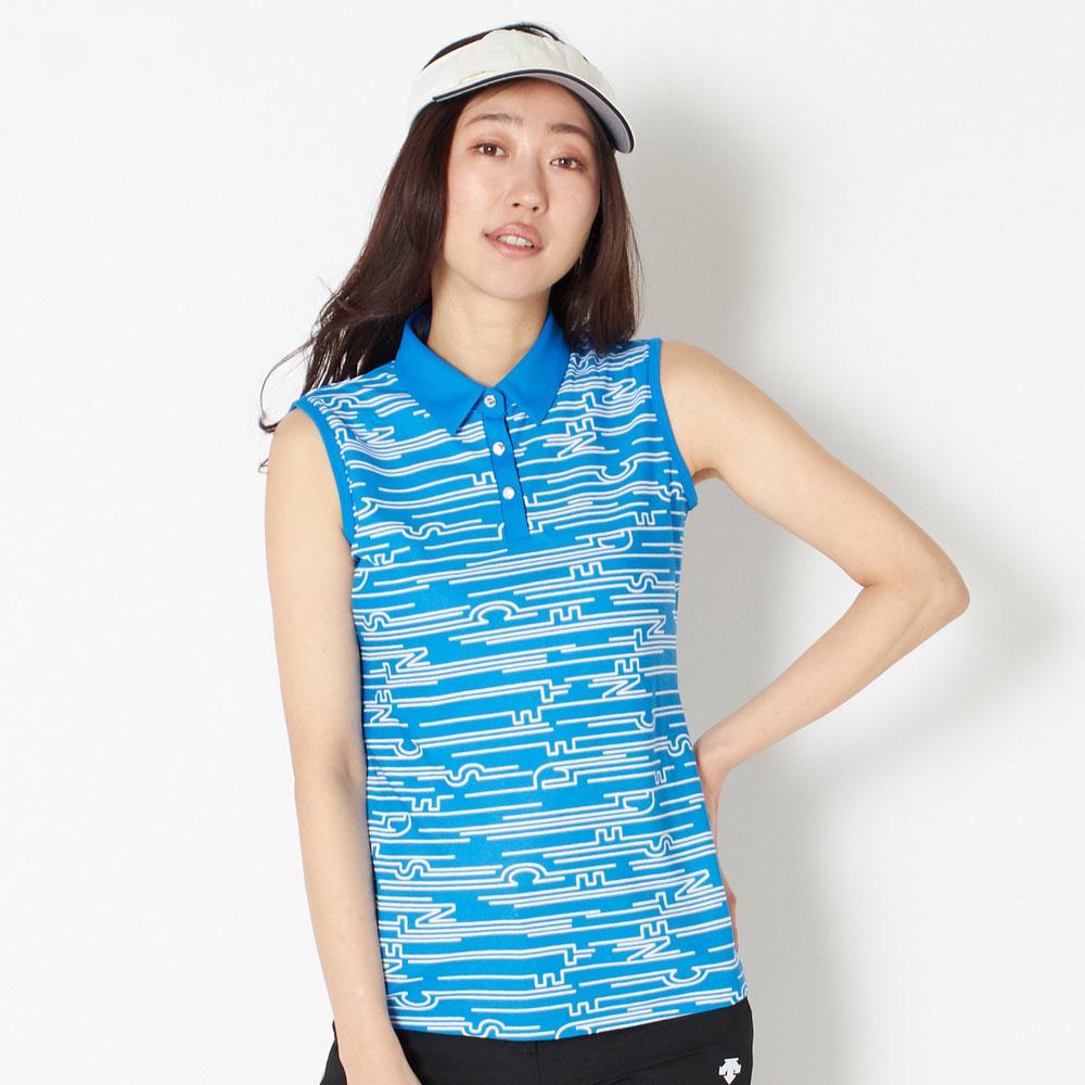 【送料無料】 デサントゴルフ スリーブレスシャツ レディース 全2色 M/L DESCENTE GOLF 女性 吸汗 速乾 UVケア(UPF30) ゴルフウェア かわいい オシャレ 大きいサイズ レジャー コース 春 夏