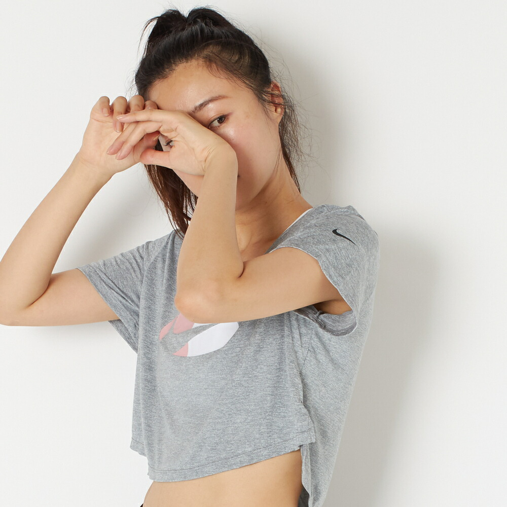 【NIKE(ナイキ)】ナイキ ウィメンズ ワン DF CLRBLK S/S トップ STD C グレー Tシャツ M/L DD4558A