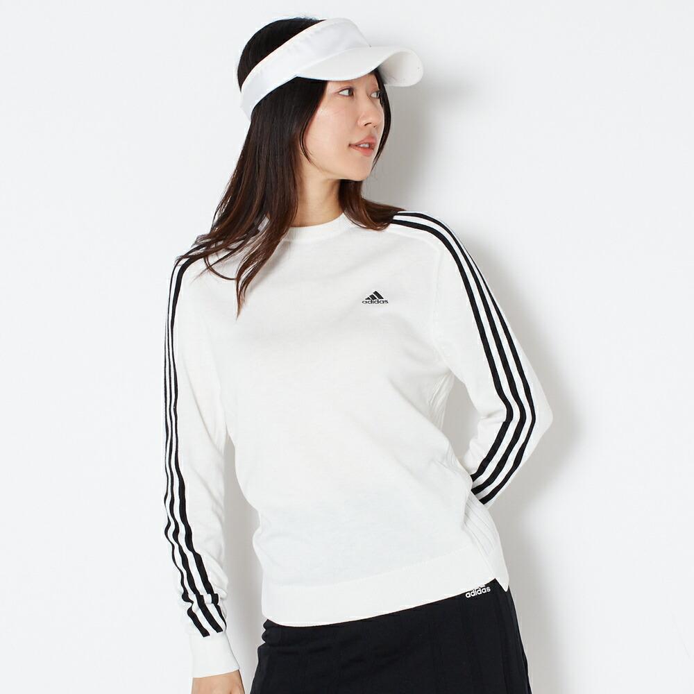 アディダスゴルフ adidas Golf 長袖クルーネックセーター  ウィメンズ レディース 女性 秋 冬  ホワイト  M/L BO200