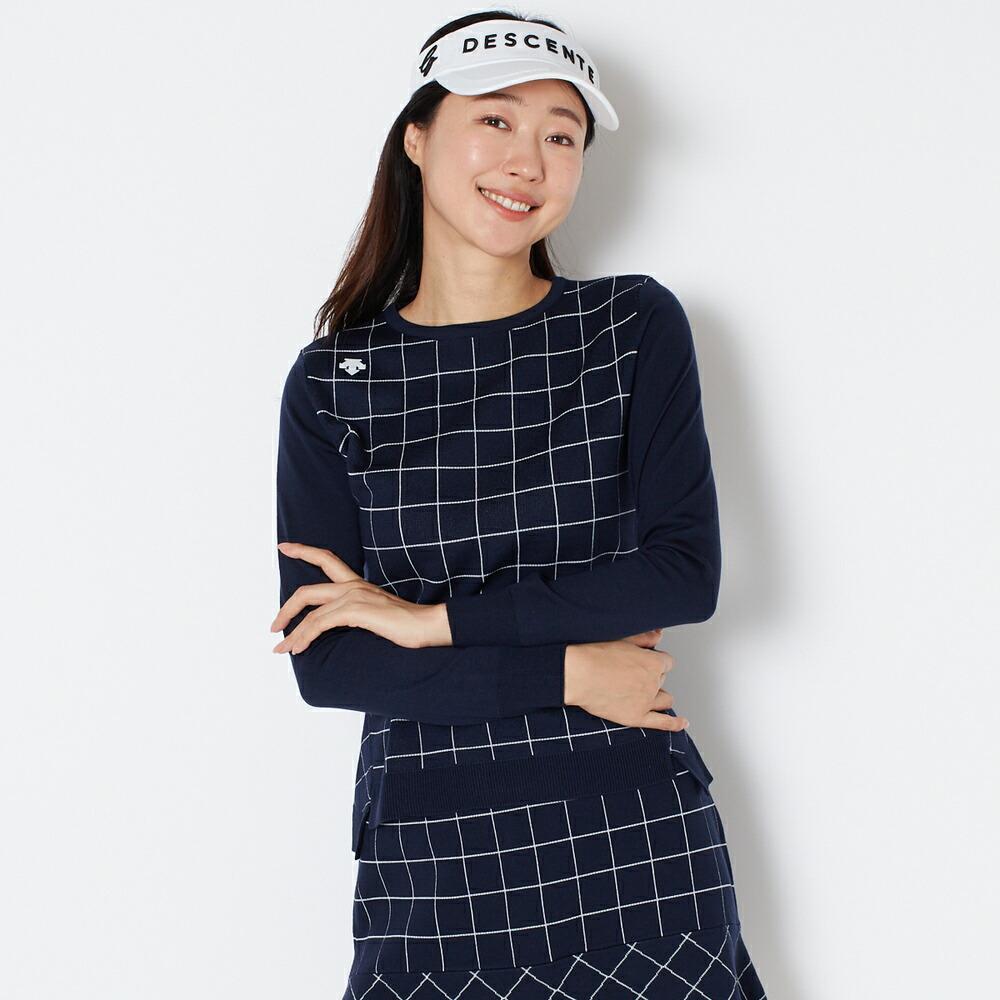 デサントゴルフ DESCENTE GOLF セーター(ネイビー)  ウィメンズ レディース 女性 秋 冬  ネイビー  M/L DGWSJL03A
