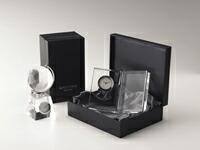 GLASS WORKS NARUMI (鳴海製陶)ガラスクロック オリジナルの記念品