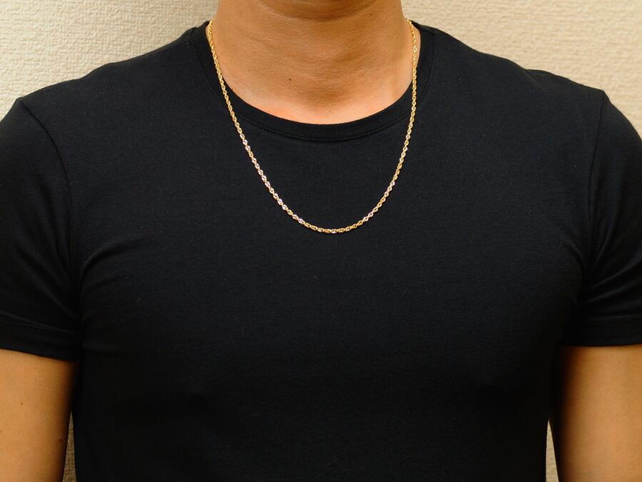 【ファッション誌に掲載】k18 メンズ イエローゴールド ダブル ロロ オーバルカット チェーン 送料無料!】 2