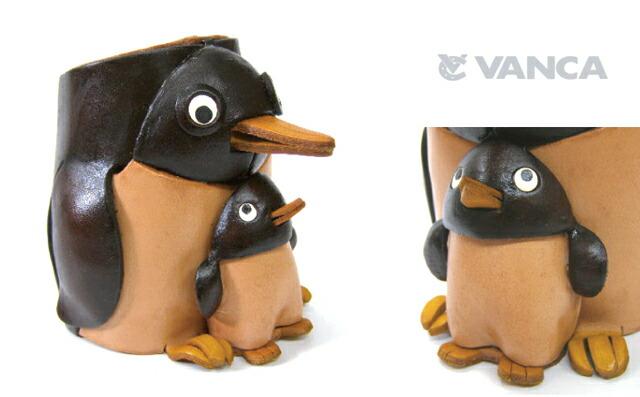 革小物メガネスタンド ペンギン