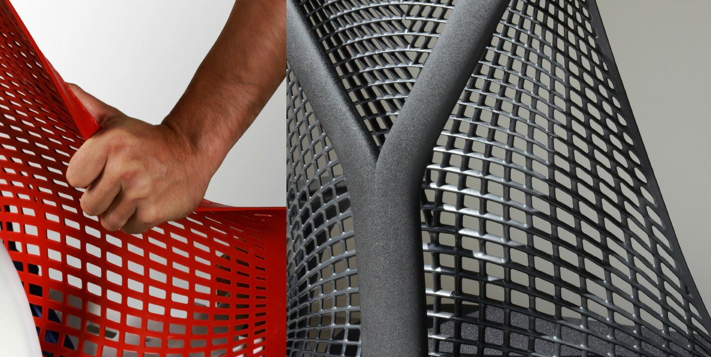 セイルチェアは革新的なフレームレス構造