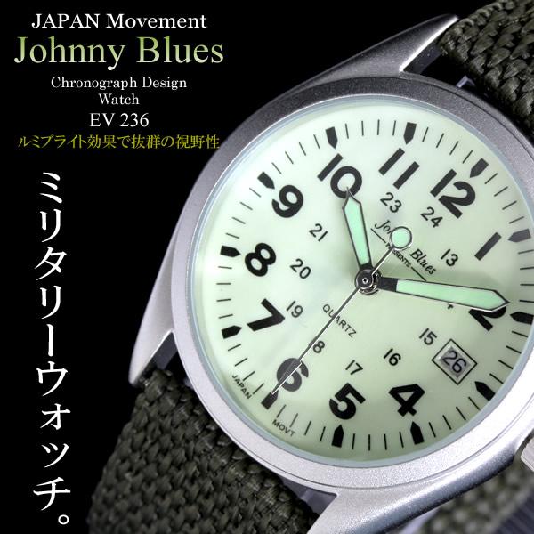 Johnny Blues ジョニーブルース ミリタリー メンズウォッチ