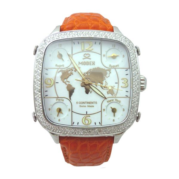 MODEX モデックス/ スイス製 最高級ダイヤモンド レディース腕時計 5continents Top ring