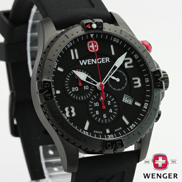 E mix rakuten global market wenger wenger squadron squadron chronograph calendar 77053 watch for Winter watches