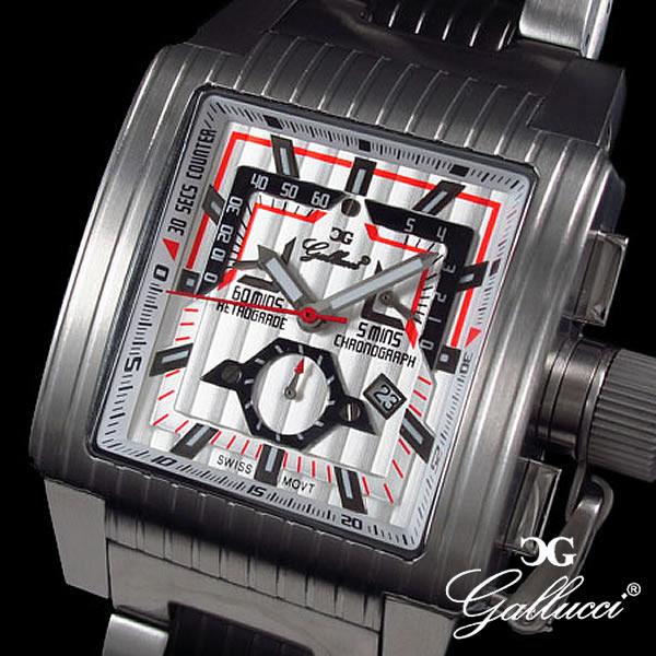 GALLUCCI ガルーチ 腕時計 レトログラードクロノ WT23372CH-SSWH