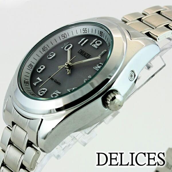 DELICES光駆動ソーラーウォッチシルバーDE085-SL1