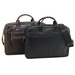國鞄(コクホー)ソフトビジネスバック ソフト牛革タイプ B4サイズ ダブル天ファスナー式(グレー)No2404GL