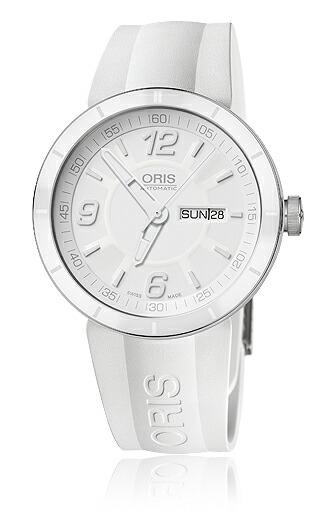 Oris Men's 01 735 7651 4166 07 4 25 07 TT1 White Dial Watch 正規輸入品