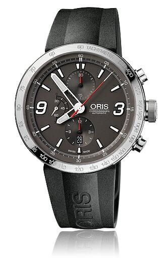Oris Men's 01 674 7659 4163 07 4 25 06 TT1 Chrono Grey Dial Watch 正規輸入品