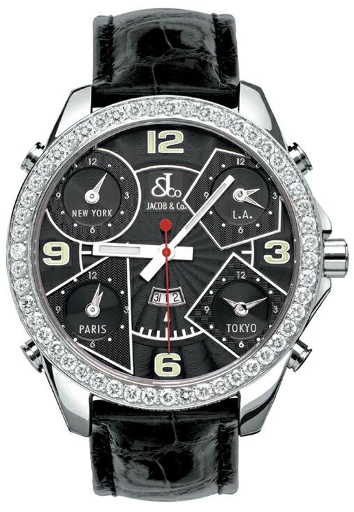 腕時計メンズJACOBCo.ジェイコブ腕時計FIVETIMEZONE(47mm)jc-2d正規品