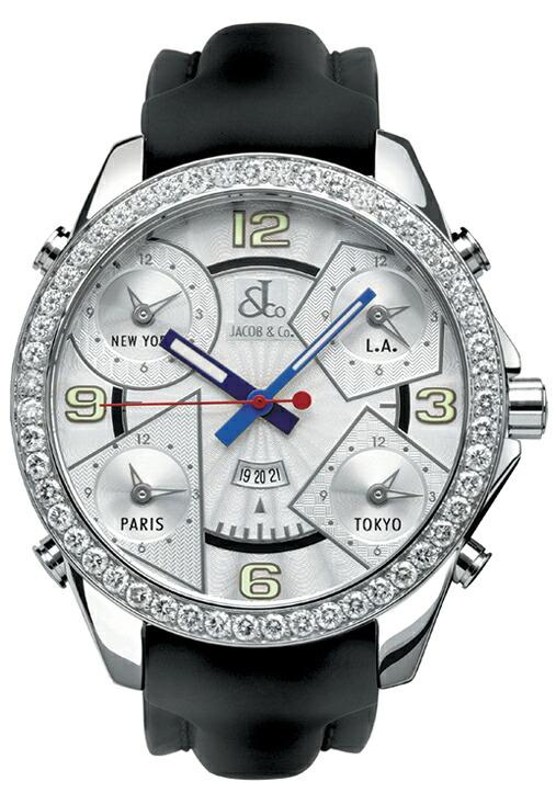 腕時計メンズJACOBCo.ジェイコブ腕時計FIVETIMEZONE(47mm)jc-3d正規品
