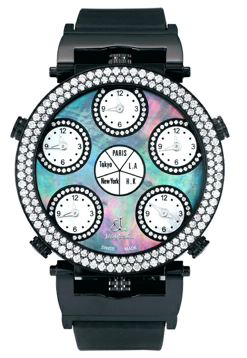 腕時計ユニセックスJACOBCo.ジェイコブ腕時計SIXTIMEZONEPOCKETWATCHjc-lg1bkd正規品