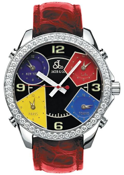 腕時計ユニセックスJACOBCo.ジェイコブ腕時計FIVETIMEZONE(40mm)jc-m11d正規品