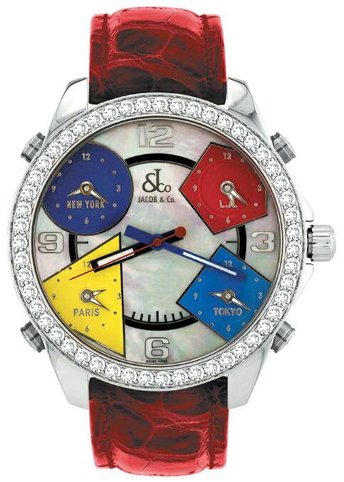 腕時計ユニセックスJACOBCo.ジェイコブ腕時計FIVETIMEZONE(40mm)jc-m13d正規品