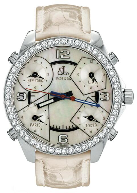 腕時計ユニセックスJACOBCo.ジェイコブ腕時計FIVETIMEZONE(40mm)jc-m14d正規品
