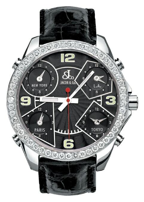 腕時計ユニセックスJACOBCo.ジェイコブ腕時計FIVETIMEZONE(40mm)jc-m2d正規品
