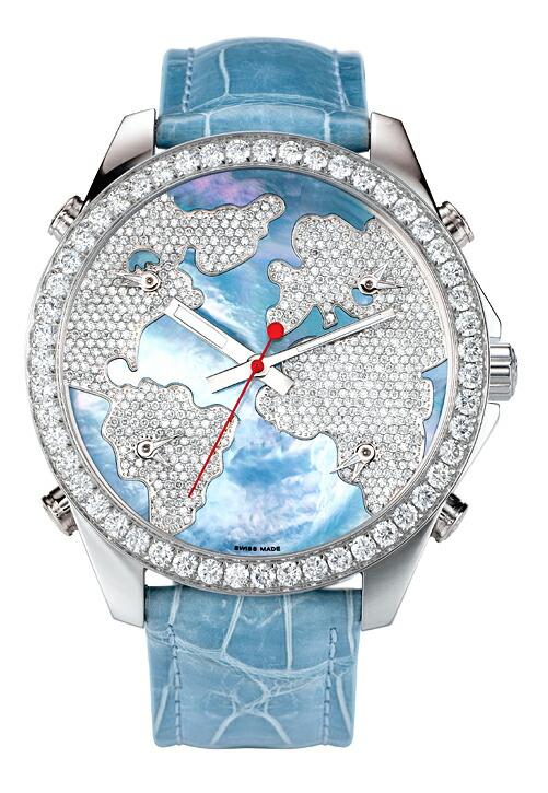 腕時計ユニセックスJACOBCo.ジェイコブ腕時計FIVETIMEZONE(40mm)jc-m47wmdc正規品