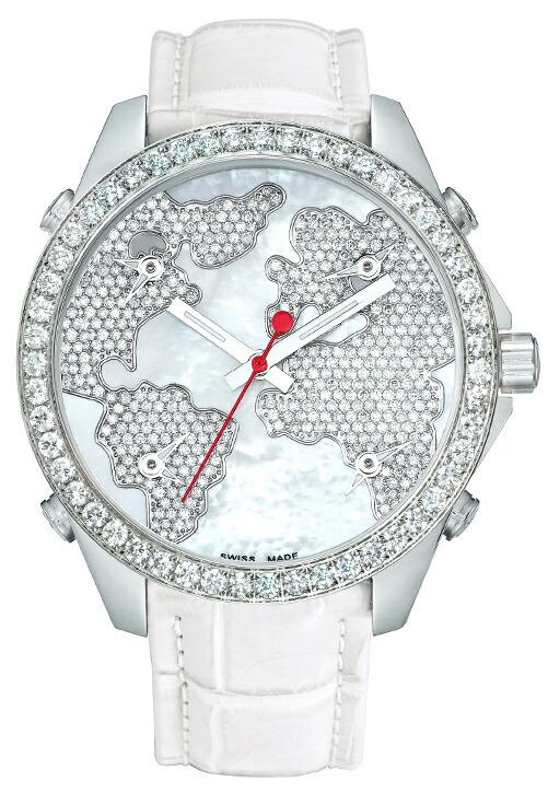腕時計ユニセックスJACOBCo.ジェイコブ腕時計FIVETIMEZONE(40mm)jc-m47wwdc正規品