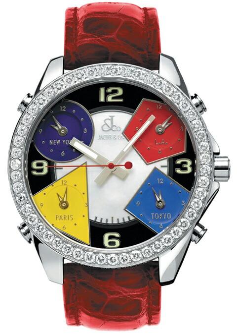 腕時計ユニセックスJACOBCo.ジェイコブ腕時計FIVETIMEZONE(40mm)jc-m4d正規品
