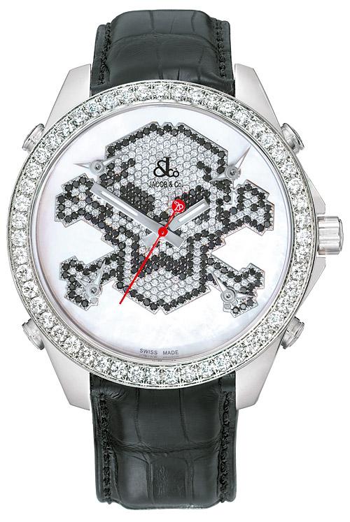 腕時計ユニセックスJACOBCo.ジェイコブ腕時計FIVETIMEZONE(40mm)jc-mskull7d正規品