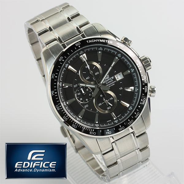 カシオ EDIFICE クロノグラフ 腕時計 メンズ 海外モデル EF-547D-1A1VDF