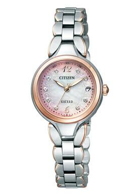 シチズン エクシード エコドライブ 電波時計 腕時計 チタニウムモデル レディース エコ・ドライブ電波時計 ES8044-61W