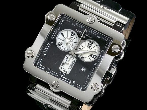 ドルチェ・メディオ メンズ腕時計 スーパーマリン DM8018-BK Dolce Medio