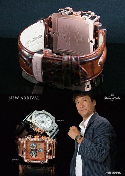 ドルチェ・メディオ メンズ腕時計 スーパーマリン DM8018QZ-PGBR Dolce Medio