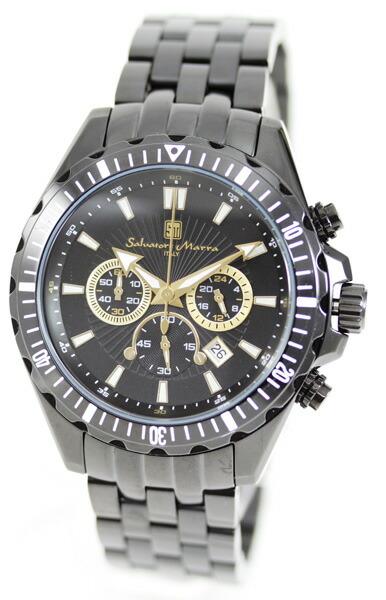 サルバトーレ・マーラ メンズ腕時計 SM10111-IPBKGD Salvatore Marra
