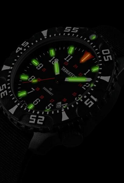 TAWATEC E.O.ダイバー Tactical Green Nato Strap
