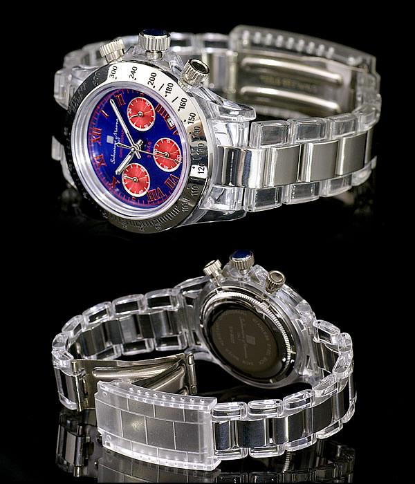 Salvatore Marra スケルトンクロノグラフ 腕時計 メンズウォッチ SM9022 SM-9022 サルバトーレマーラ