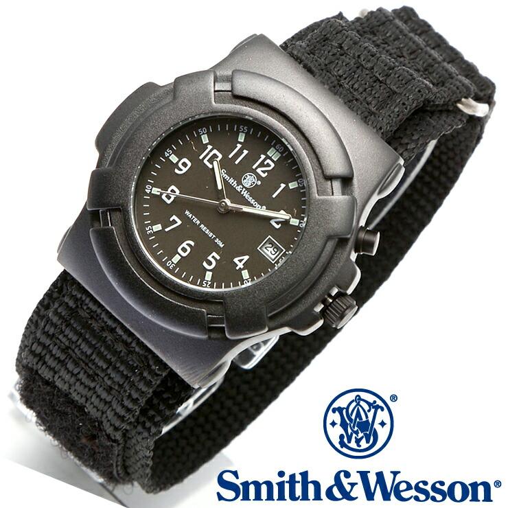 [送料無料] [正規品] スミス&ウェッソン Smith & Wesson ミリタリー腕時計 LAWMAN WATCH BLACK SWW-11B-GLOW