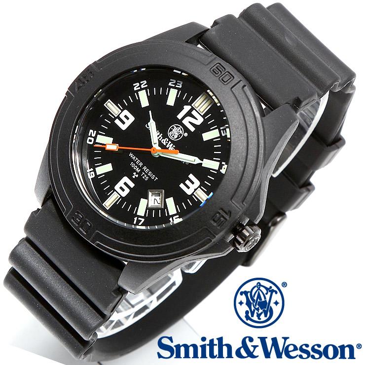 [送料無料] [正規品] スミス&ウェッソン Smith & Wesson ミリタリー腕時計 SOLDIER WATCH RUBBER STRAP BLACK SWW-12T-R