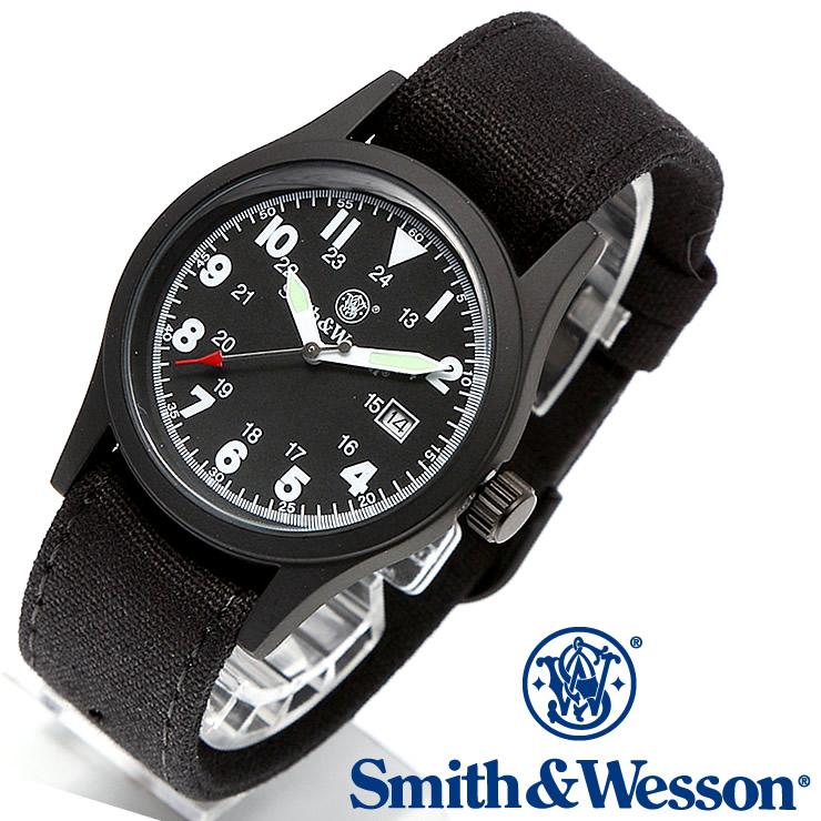 [送料無料] [正規品] スミス&ウェッソン Smith & Wesson ミリタリー腕時計 MILITARY WATCH BLACK SWW-1464-BK