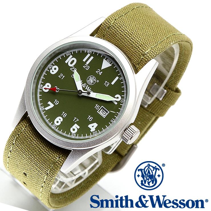 [送料無料] [正規品] スミス&ウェッソン Smith & Wesson ミリタリー腕時計 MILITARY WATCH OLIVE DRAB SWW-1464-OD