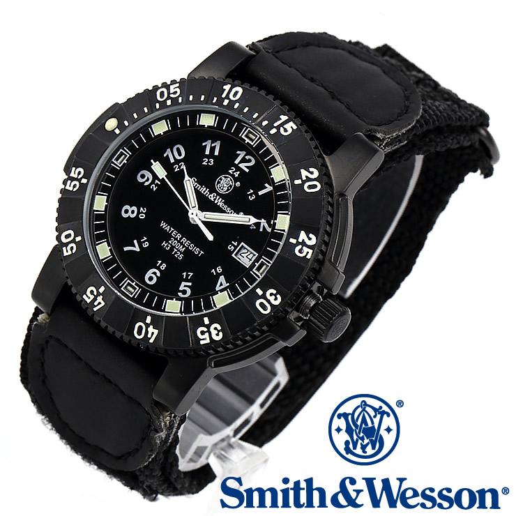 [送料無料] [正規品] スミス&ウェッソン Smith & Wesson スイス トリチウム ミリタリー腕時計 SWISS TRITIUM 357 SERIES TACTICAL WATCH NYLON BLACK SWW-357-N