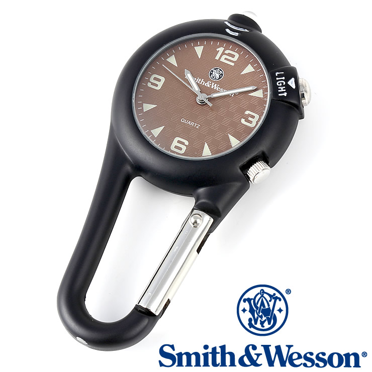 [送料無料] [正規品] スミス&ウェッソン Smith & Wesson ミリタリー時計 CARABINER CLASSIC WATCH BLACK SWW-36-BLK