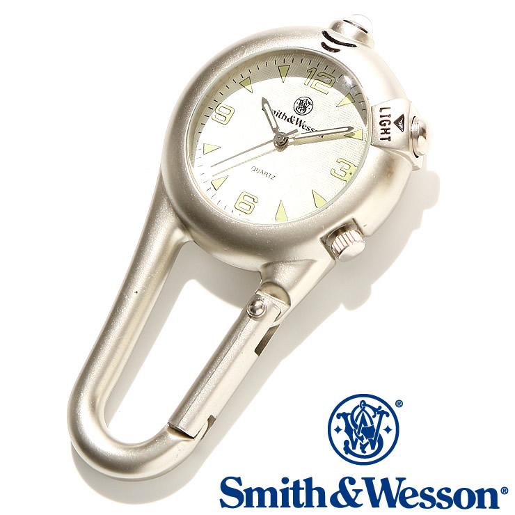 [送料無料] [正規品] スミス&ウェッソン Smith & Wesson スイス ミリタリー時計 CARABINER CLASSIC WATCH BLACK SWW-36-SLV